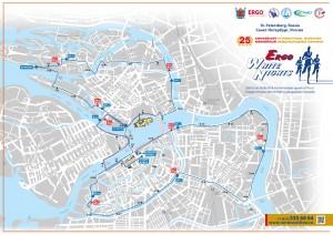 Векторная карта Санкт Перербурга