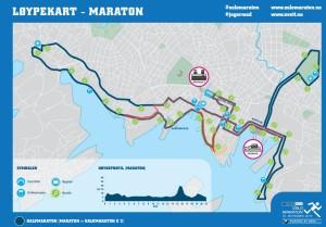 Oslo maratoni rajakaart