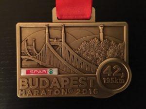 Budapesti maratoni medal 2016